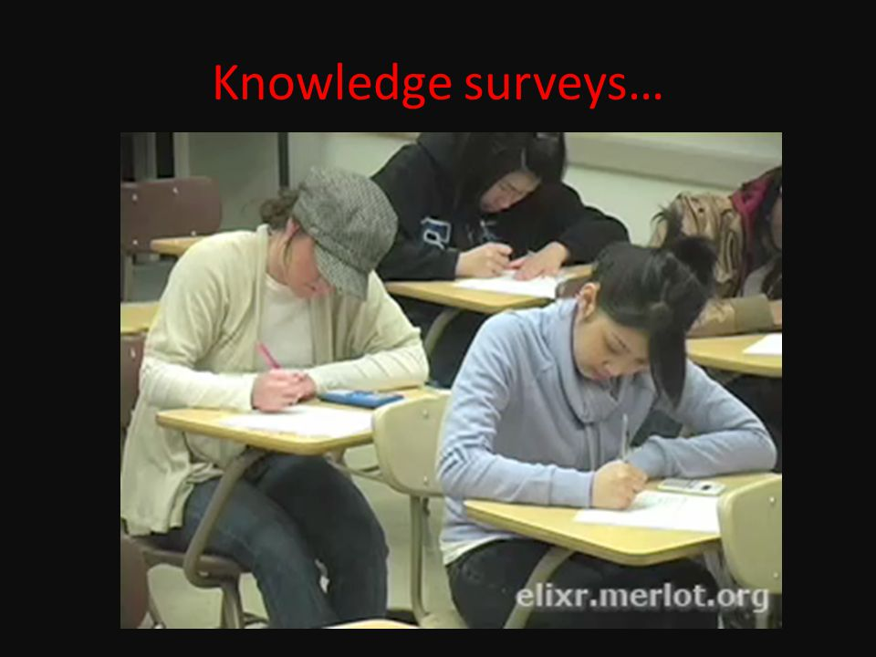 Knowledge surveys…