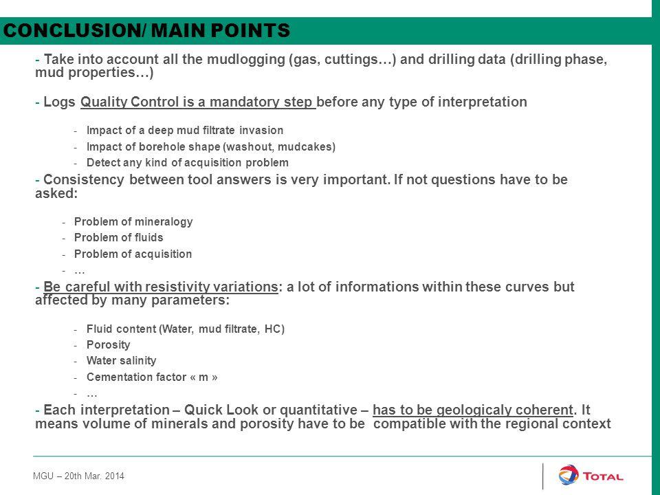 CONCLUSION/ MAIN POINTS