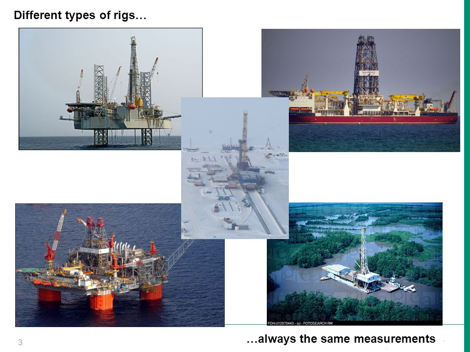 Different types of rigs…