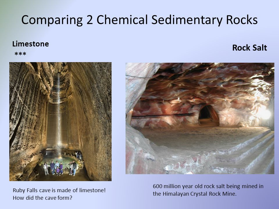 Comparing 2 Chemical Sedimentary Rocks