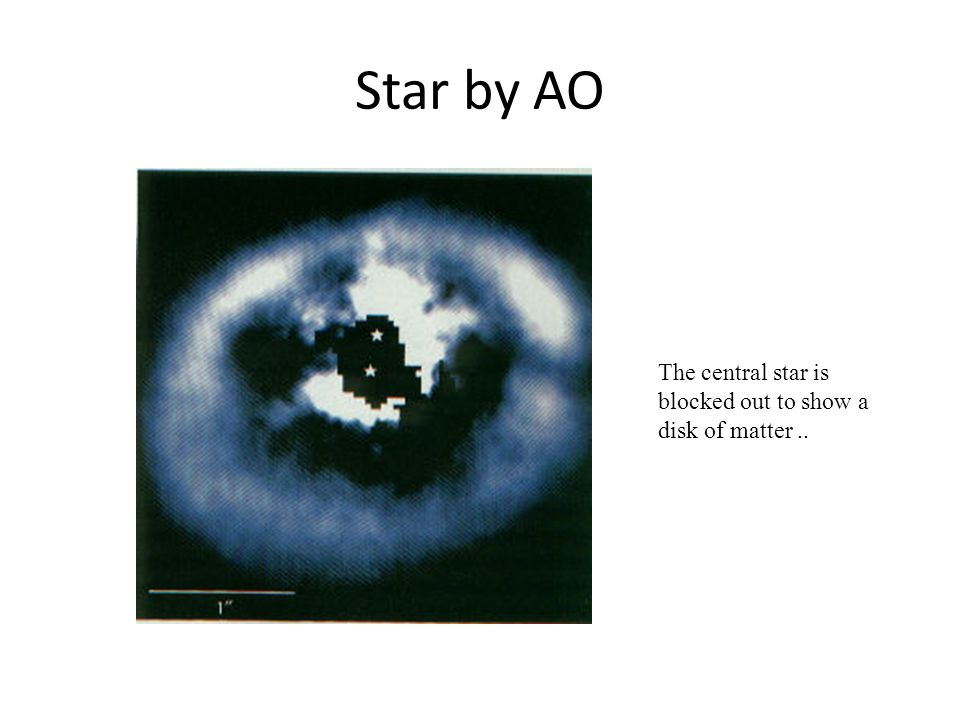 Star by AO The central star is blocked out to show a disk of matter ..