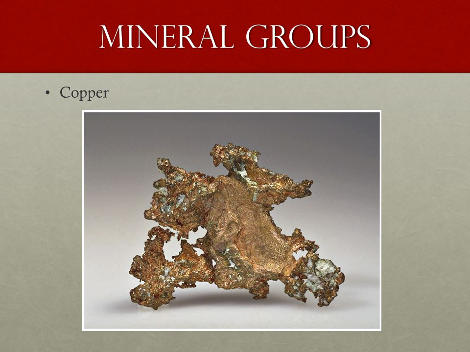 Mineral Groups Copper