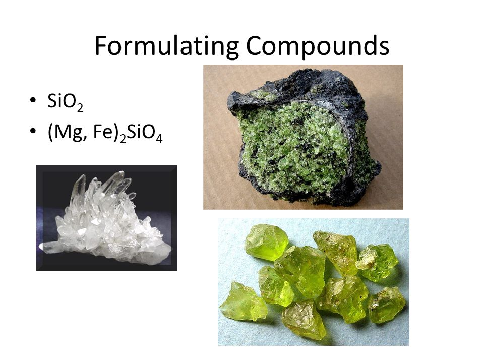 Formulating Compounds