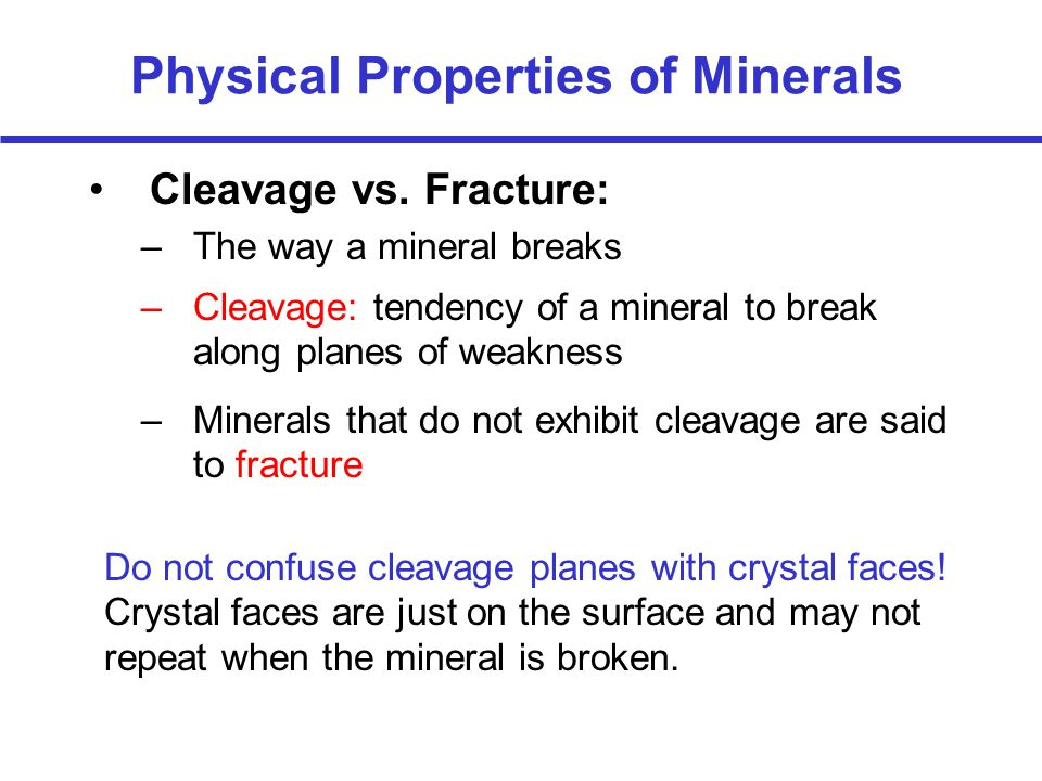 Physical Properties of Minerals