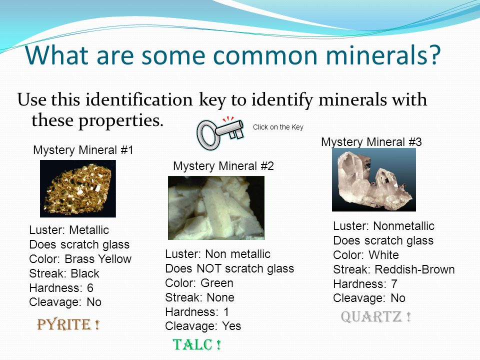 What are some common minerals