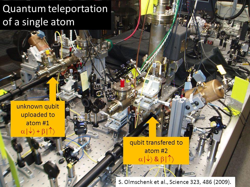 Quantum teleportation of a single atom