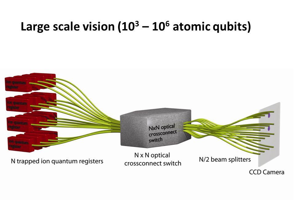 Large scale vision (103 – 106 atomic qubits)
