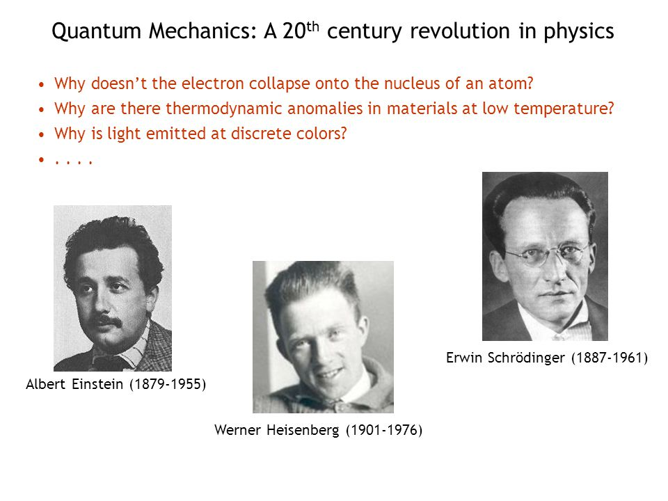 Quantum Mechanics: A 20th century revolution in physics