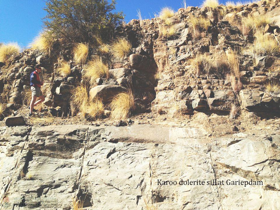 Karoo dolerite sill at Gariepdam