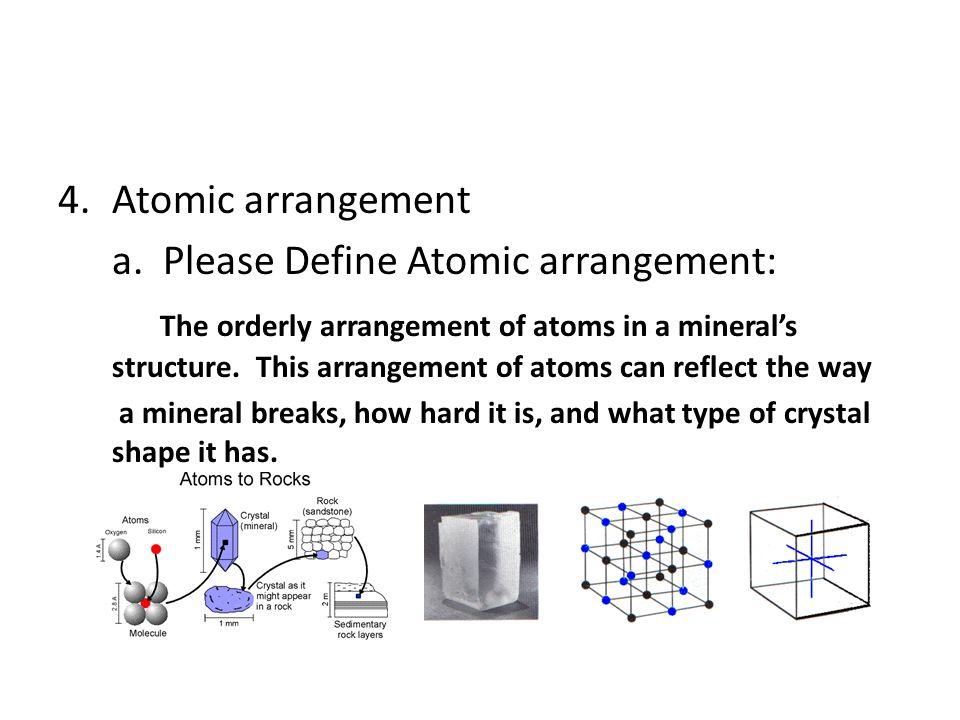 a. Please Define Atomic arrangement: