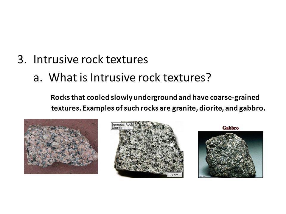Intrusive rock textures