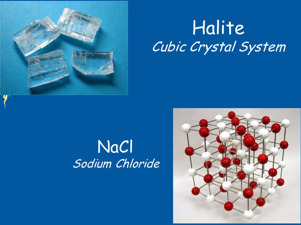Halite Cubic Crystal System NaCl Sodium Chloride