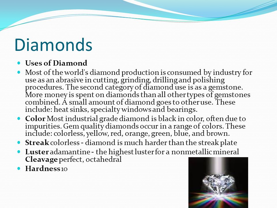 Diamonds Uses of Diamond