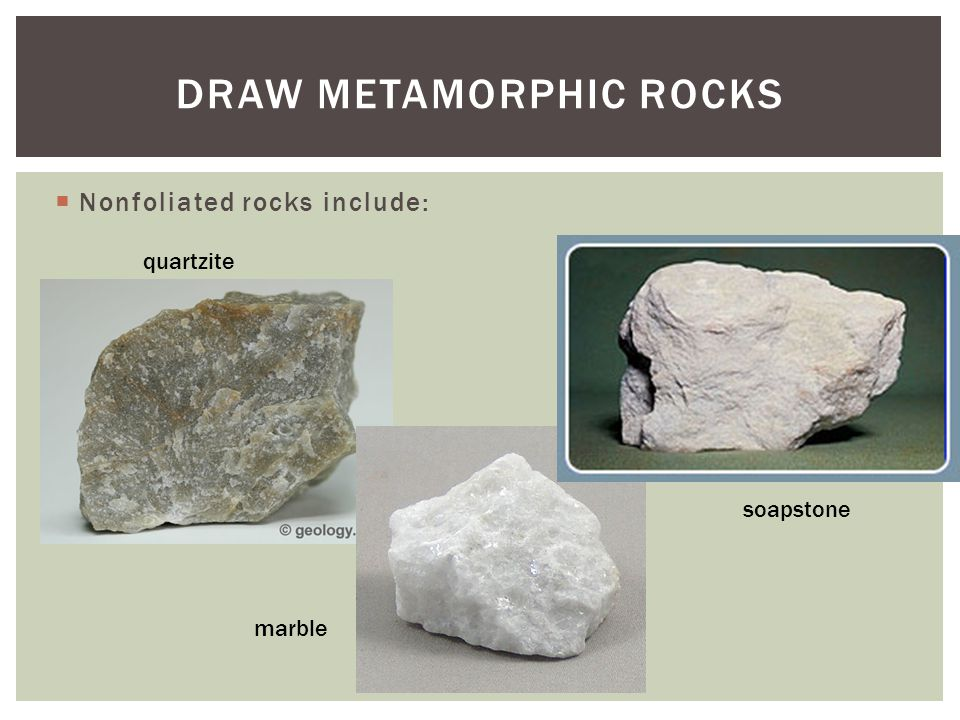 Draw Metamorphic Rocks