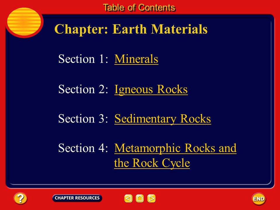 Chapter: Earth Materials