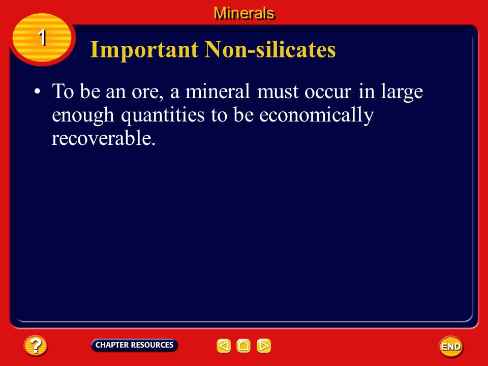 Important Non-silicates