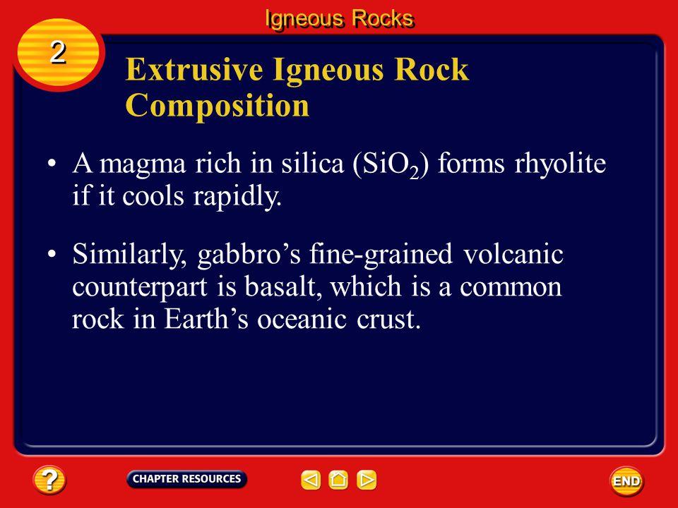 Extrusive Igneous Rock Composition
