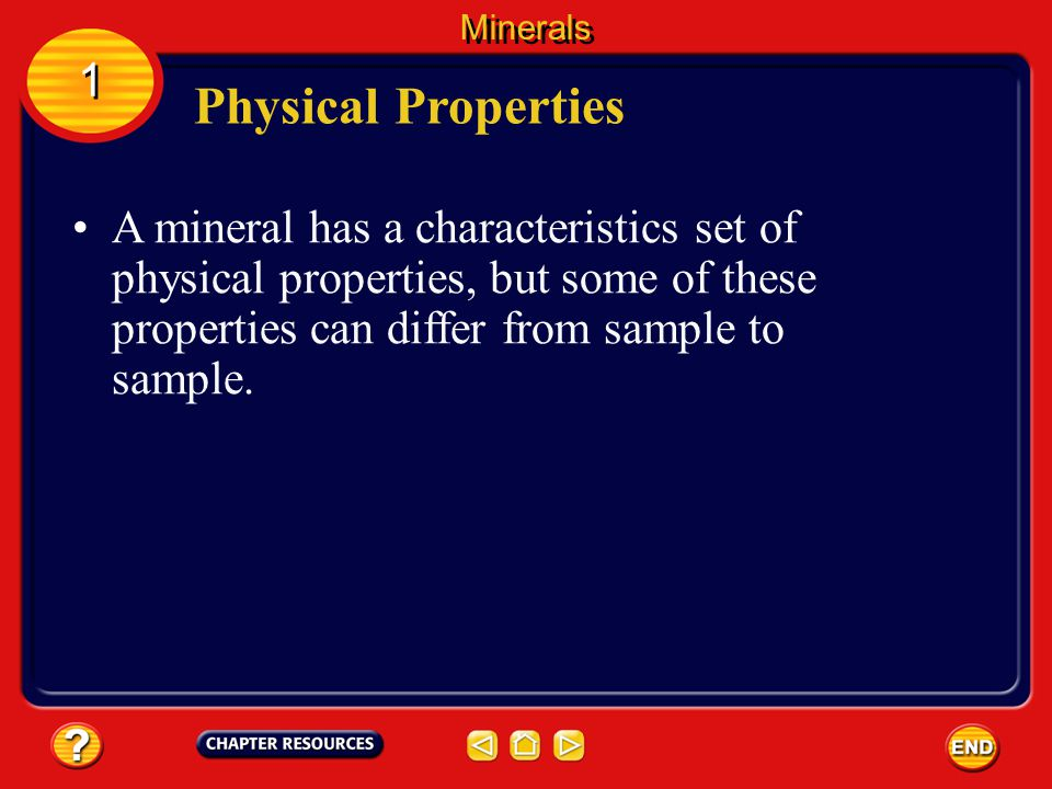 Minerals 1. Physical Properties.