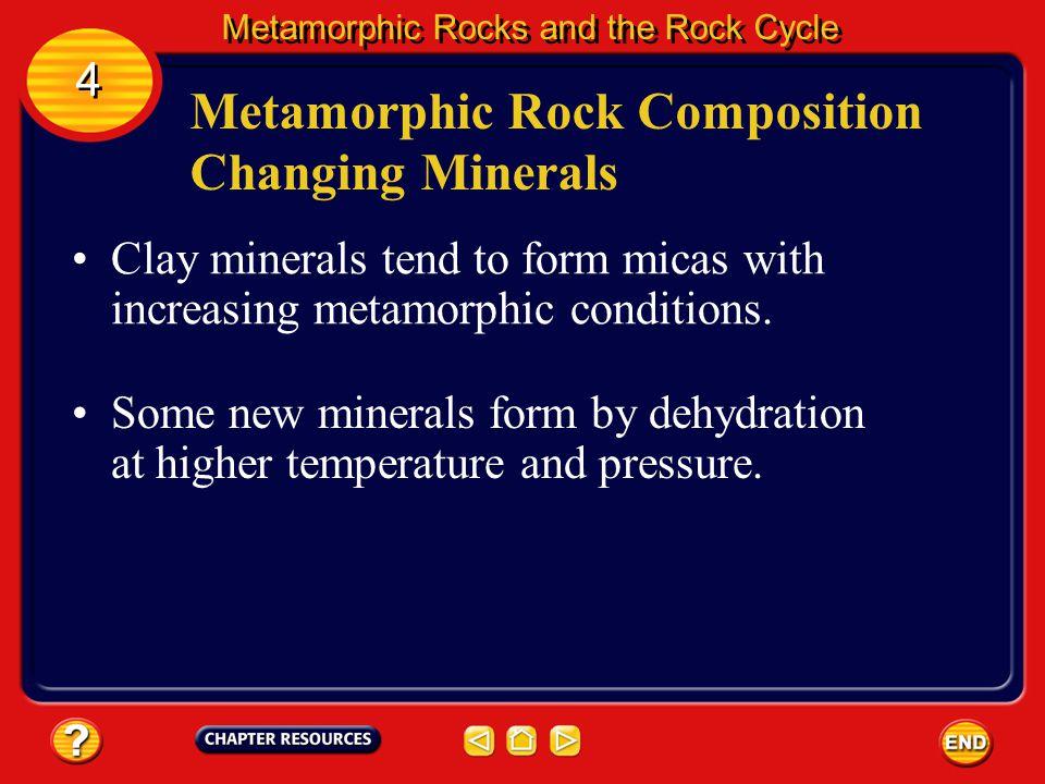 Metamorphic Rock Composition Changing Minerals