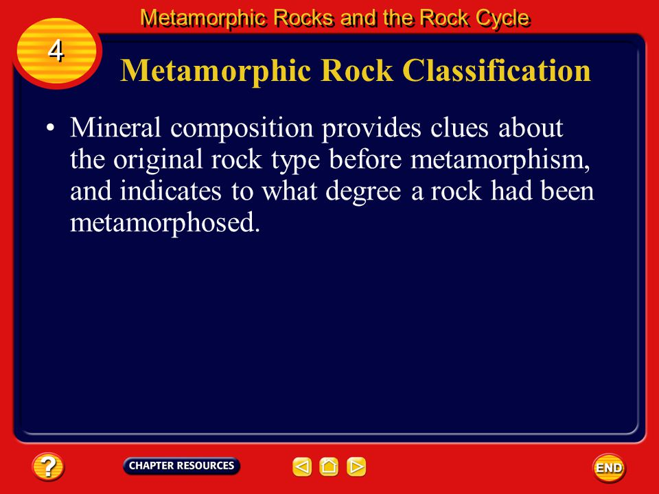 Metamorphic Rock Classification