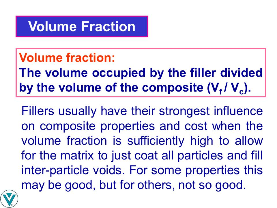 Volume Fraction Volume fraction: