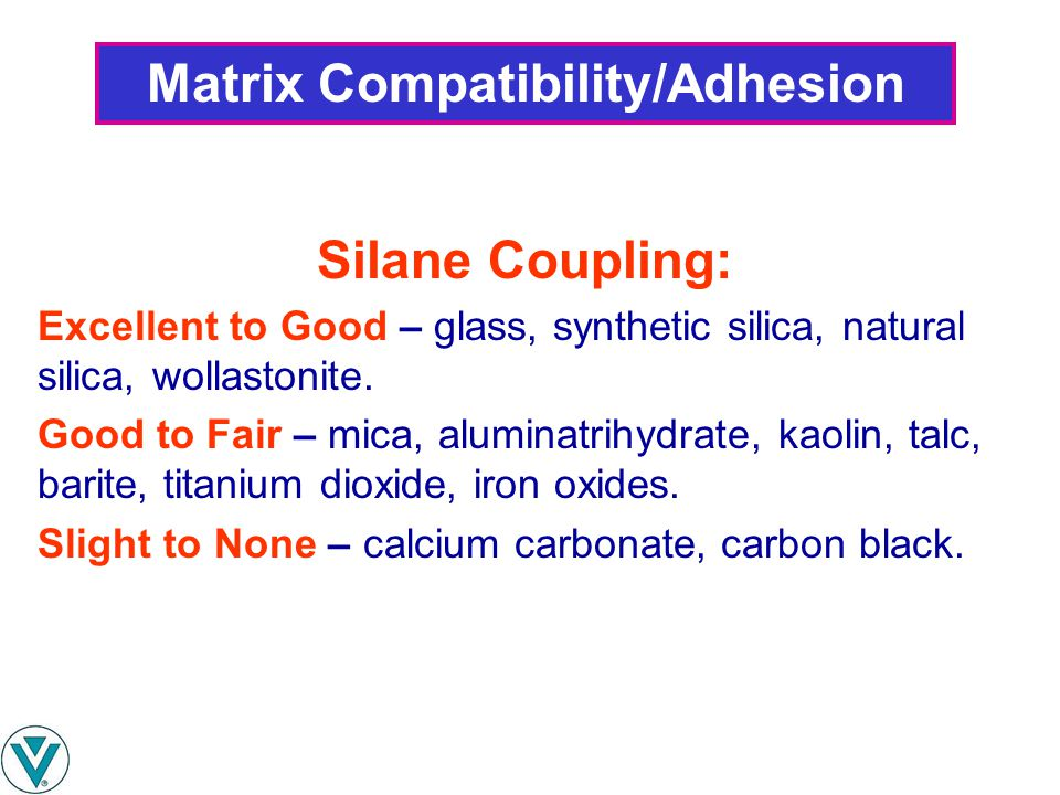 Matrix Compatibility/Adhesion