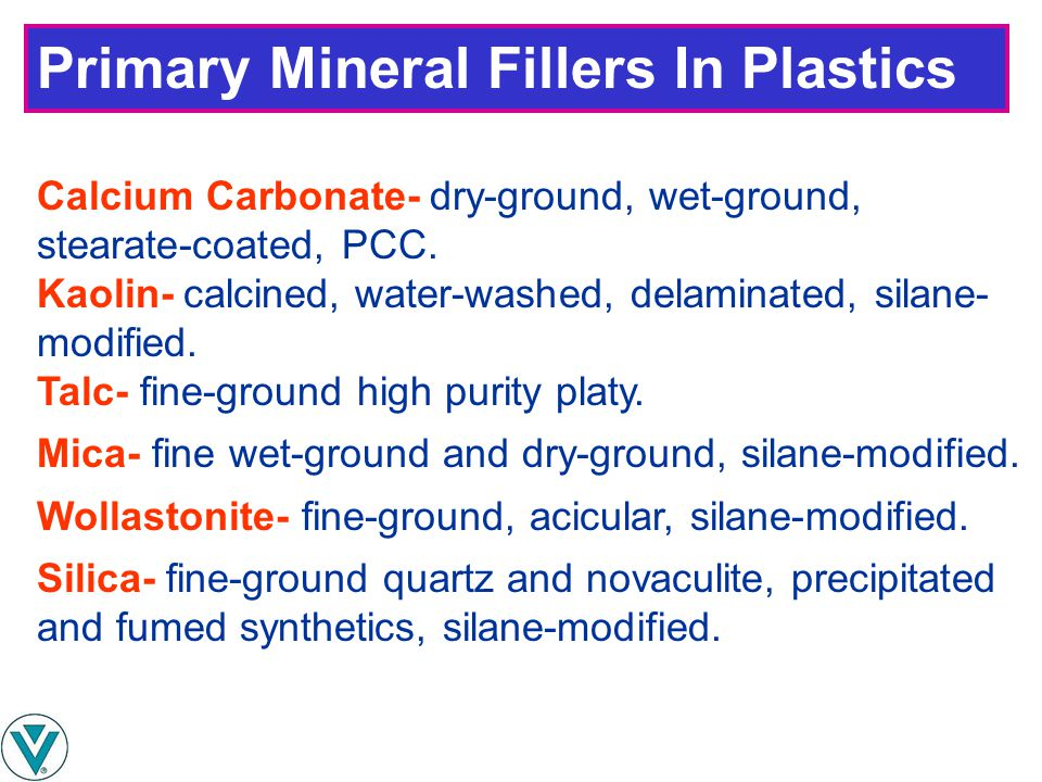 Primary Mineral Fillers In Plastics