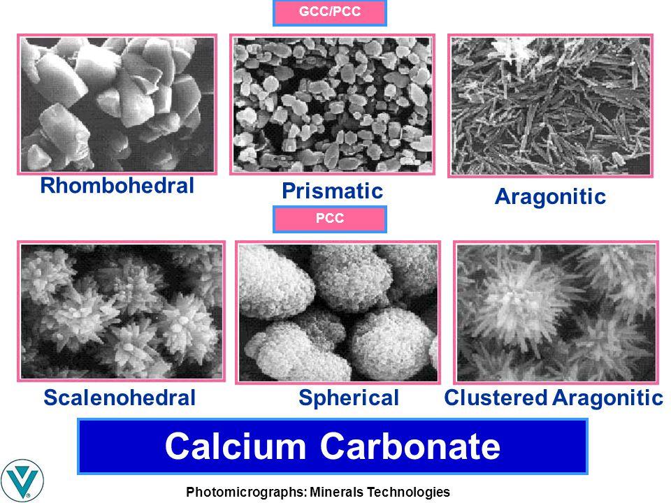 Calcium Carbonate Rhombohedral Prismatic Aragonitic Scalenohedral