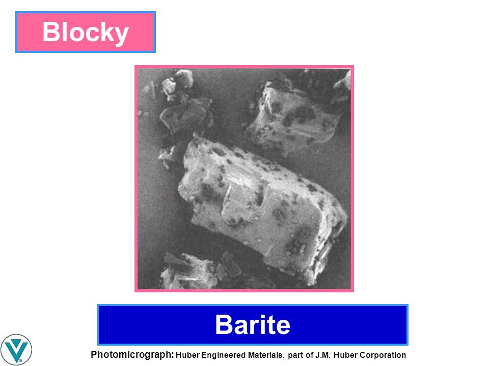 Blocky Barite Photomicrograph: Huber Engineered Materials, part of J.M. Huber Corporation