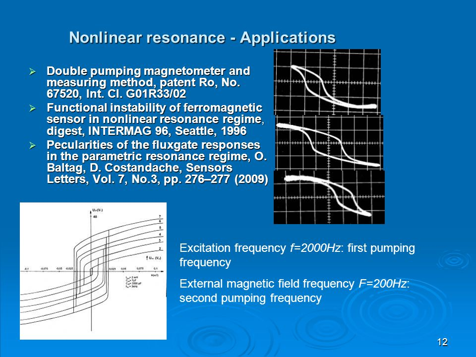 Nonlinear resonance - Applications