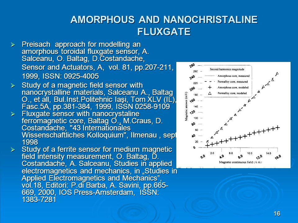 AMORPHOUS AND NANOCHRISTALINE FLUXGATE