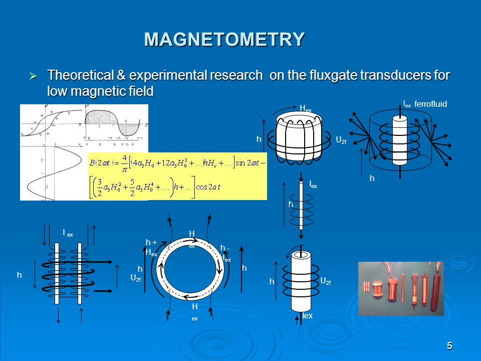 MAGNETOMETRY Theoretical & experimental research on the fluxgate transducers for low magnetic field.