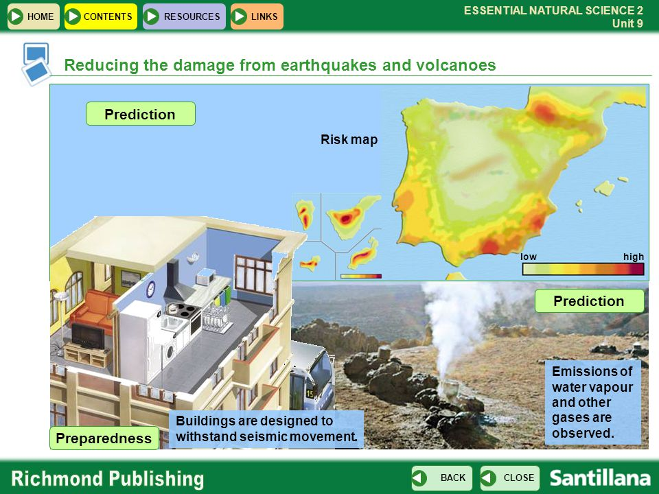 Reducing the damage from earthquakes and volcanoes