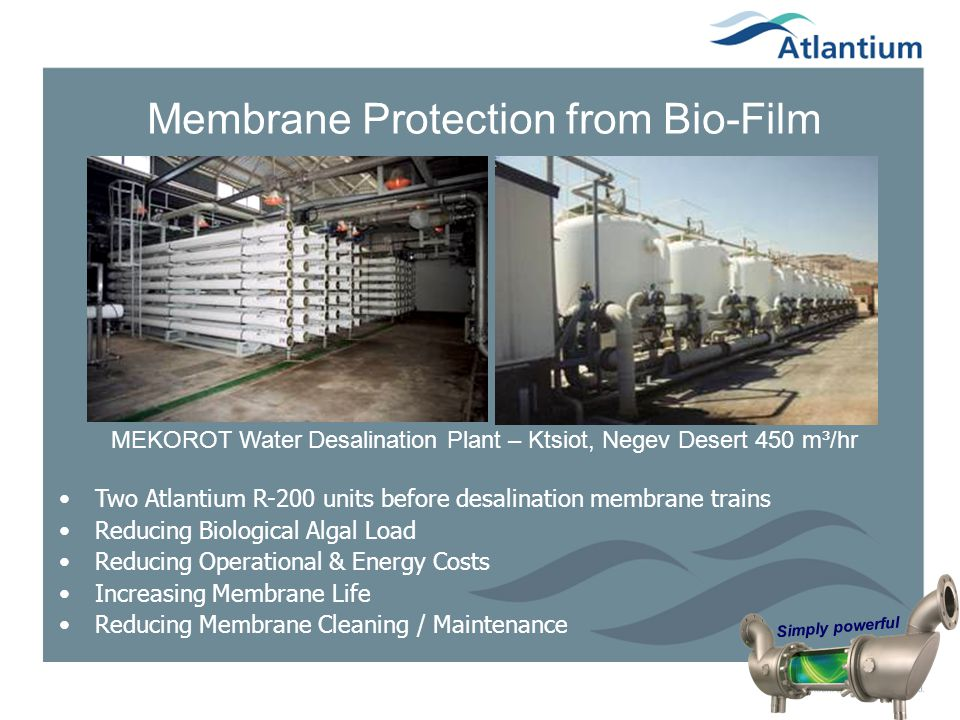 Membrane Protection from Bio-Film