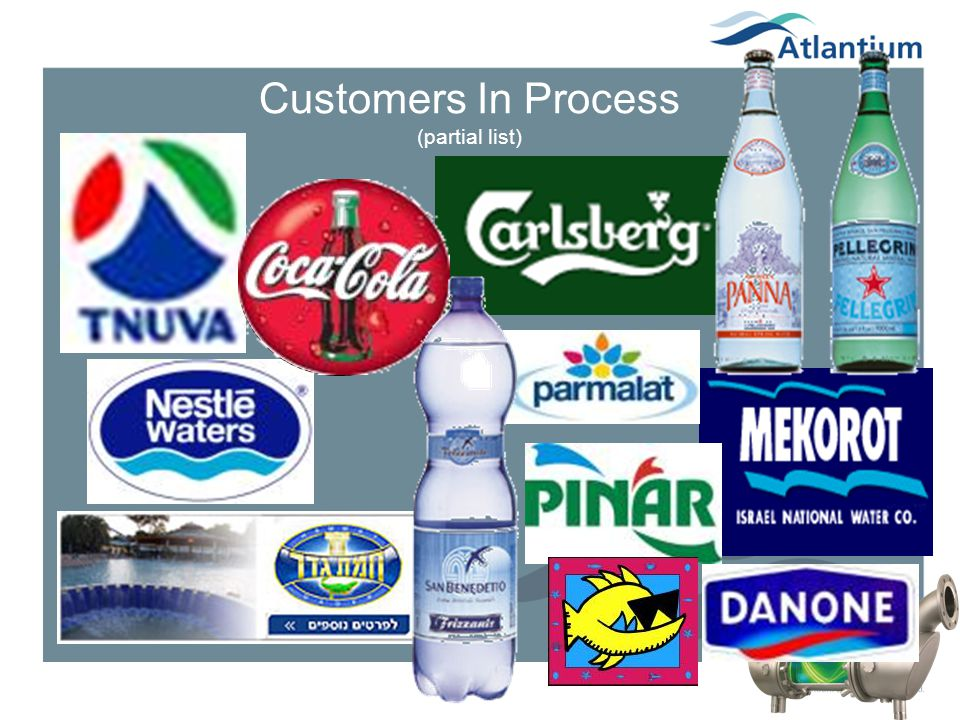 Customers In Process (partial list)