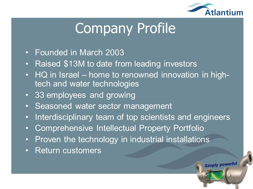 Company Profile Founded in March 2003