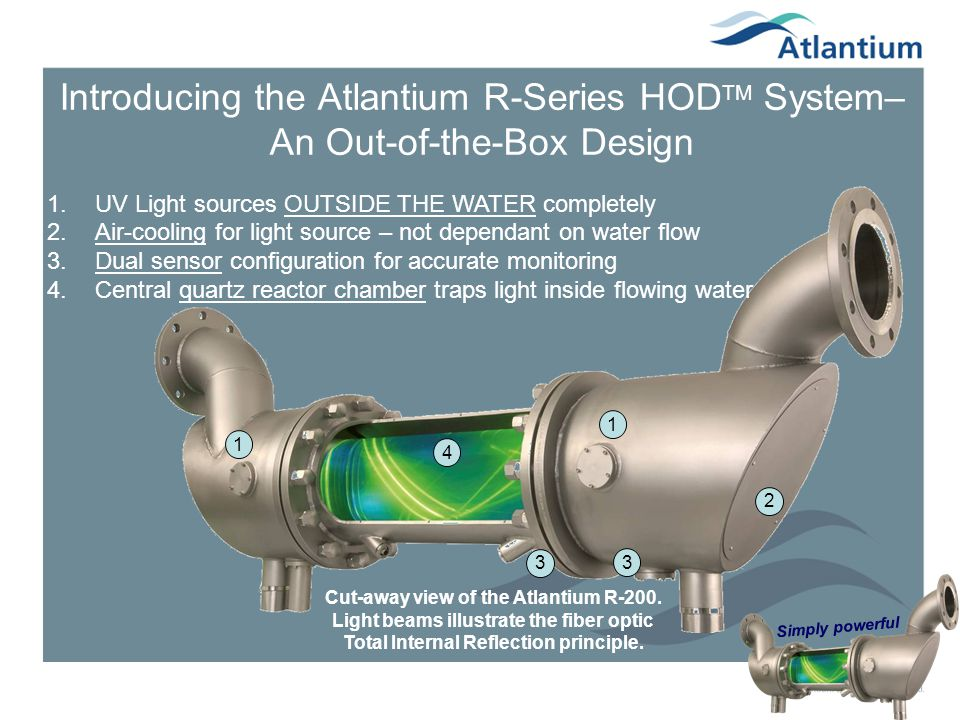 Introducing the Atlantium R-Series HODTM System– An Out-of-the-Box Design