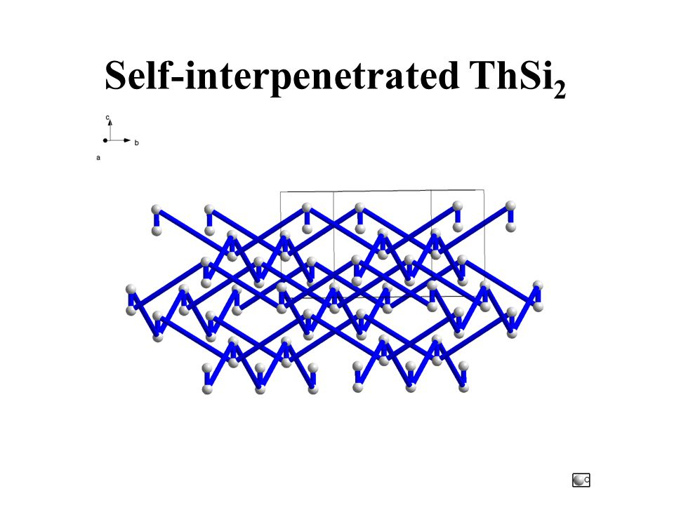 Self-interpenetrated ThSi2