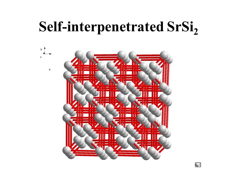 Self-interpenetrated SrSi2