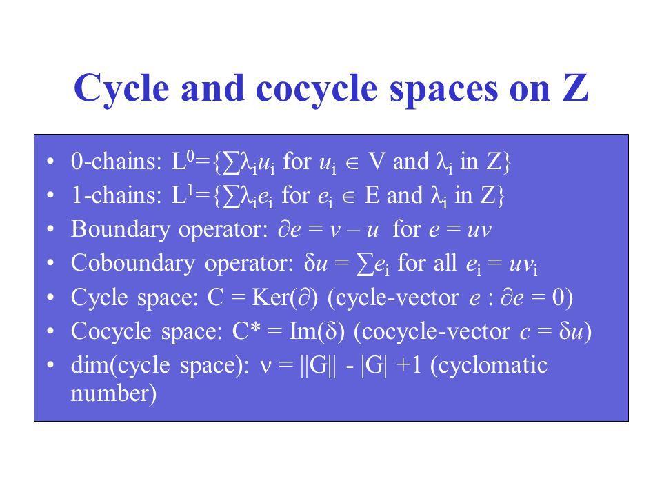 Cycle and cocycle spaces on Z