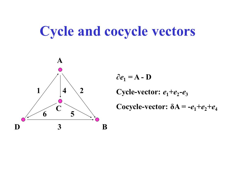 Cycle and cocycle vectors