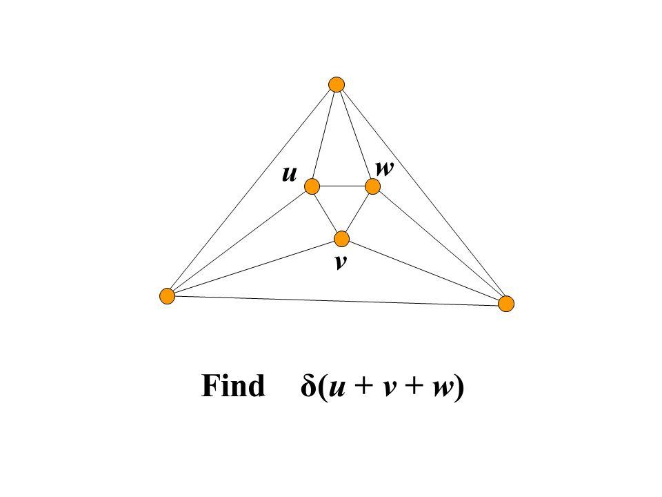 u v w Find δ(u + v + w)