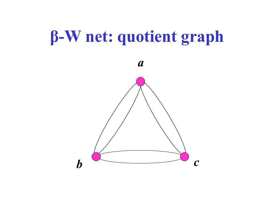 β-W net: quotient graph