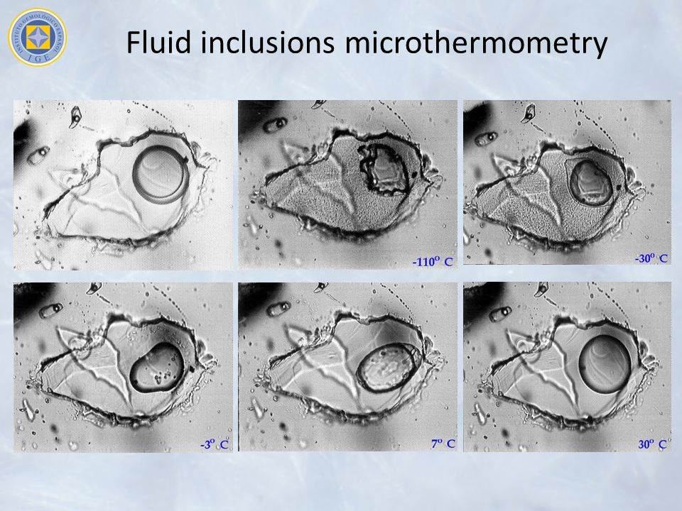 Fluid inclusions microthermometry