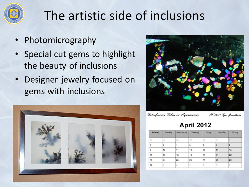 The artistic side of inclusions