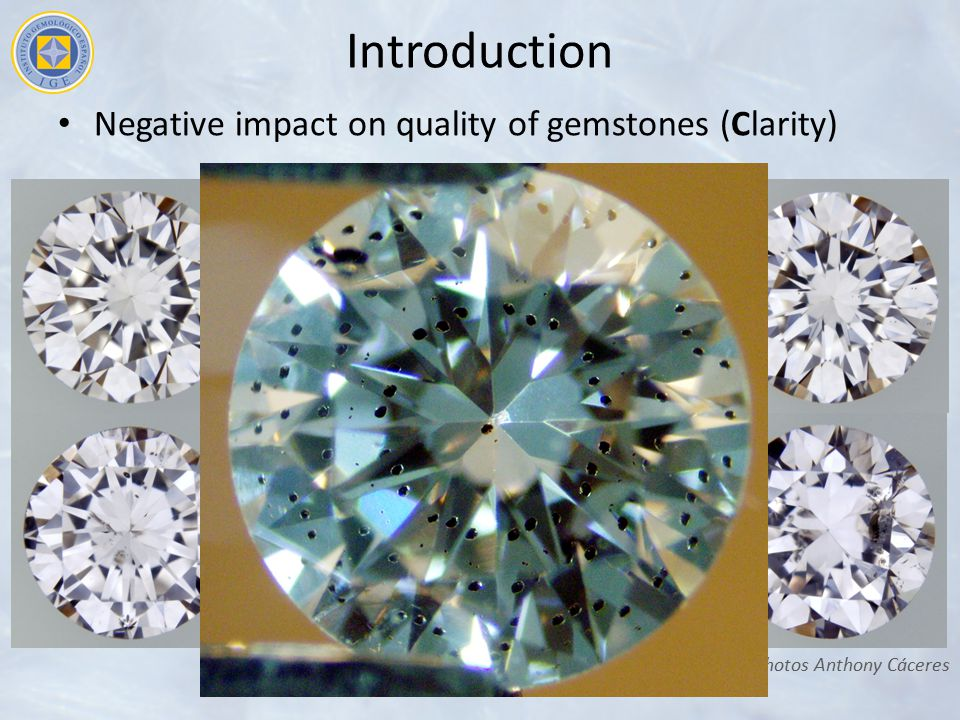 Introduction Negative impact on quality of gemstones (Clarity)