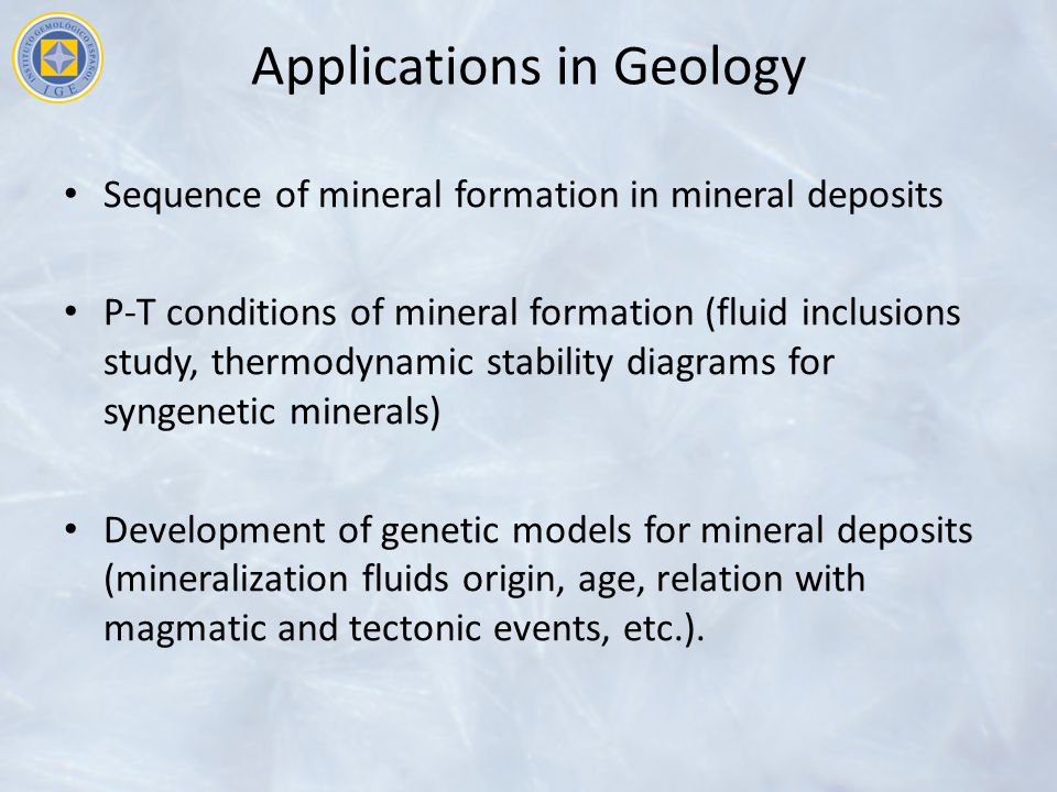 Applications in Geology
