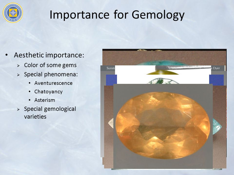 Importance for Gemology