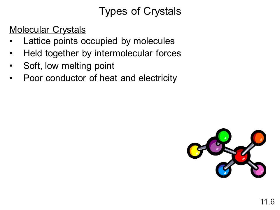 Types of Crystals Molecular Crystals