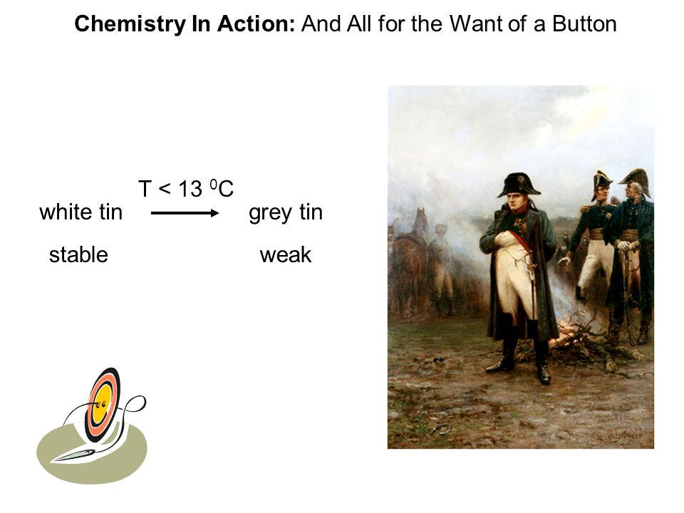 Chemistry In Action: And All for the Want of a Button